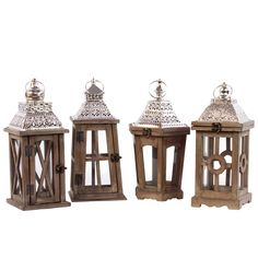 Off Brown Wood Square Lantern with Silver Pierced Metal Top and Ring Hanger by Urban Trends Collection. @ Brown Wood Square Lantern with Silver Pierced Metal Top and Ring Hanger Silver Lanterns, Wooden Lanterns, Lanterns Decor, Candle Lanterns, Hanging Lanterns, Brown Candles, Taper Candles, Ceramic Lantern, Lantern Set