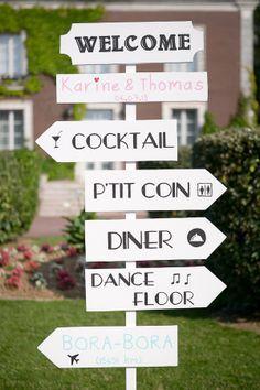 comment fabriquer des panneaux de signalisation pour un v nement mariage panneaux direction. Black Bedroom Furniture Sets. Home Design Ideas