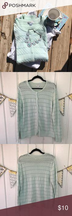 Selling this Mint Croft & Barrow Cardigan on Poshmark! My username is: jenelizabeth42. #shopmycloset #poshmark #fashion #shopping #style #forsale #croft & barrow #Sweaters
