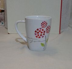 Starbucks I Love You Coffee Mug 12 Fl. Oz. 2007 Tea Cup Heart I Love You #Starbucks