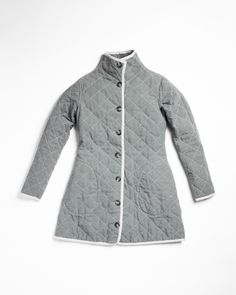 Utility Canvas Women's Quilted Car Coat Steele - $170 - Made in USA
