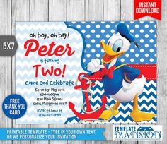 Donald Duck Invitation Donald Duck Birthday by TemplateMansion