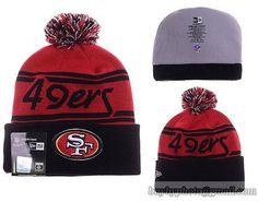 Mens   Womens San Francisco 49ers New Era 2016 NFL Fashion Red Pom Fire  Cuffed Knit 5c175a0778d1