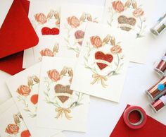 free printable fill-in-the-banner Valentine cards.