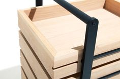 "Minimalist Modular Drawer Made of Oak Designer Keiji Ashizawahas presented this minimalist piece of furniture called Bon Drawer. The word ""bon"" is close Wood Furniture, Modern Furniture, Furniture Design, Desk Legs, Furniture Inspiration, Wood And Metal, Design Crafts, Building Design, Wood"