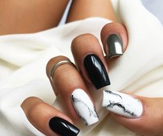 We Heart It | Marble Nails