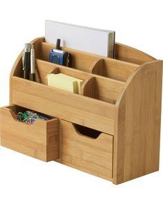 Desk organziger:  Lipper International Bamboo Space Saving organizer at Casa.com  $23.61