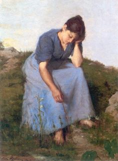 Young Woman in a Field -  Jules Breton