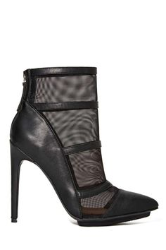 """Love! Shoe Cult """"Partition"""" Bootie with mesh"""