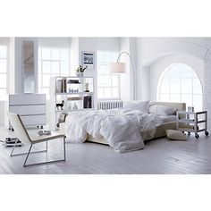LOVE THIS VIBE FOR BEDROOM   pezzo white storage unit-bench in office furniture | CB2