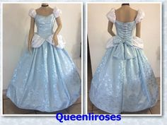 "Cinderella Enchanted Ball Gown Dress, Adult - Your Size Busts 32"" - 42, U S Made #Dress"