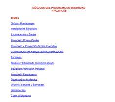 SGSST | Procedimientos Seguros - Módulos del Programa de Seguridad y Políticas.