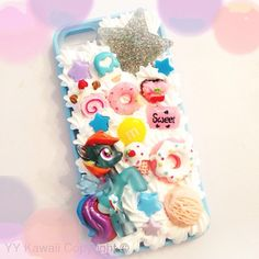 Rainbow Dash My Little Pony Decoden Kawaii IPhone 5 case available for £15  https://www.etsy.com/shop/YYKawaii