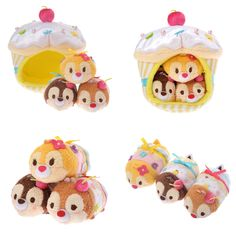 Valentine's Day Cupcake Tsum Tsum Set - Chip, Dale, and Clarice