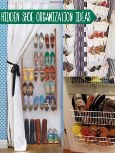 Organize and HIDE your shoes! Plus lots more shoe storage ideas @Remodelaholic