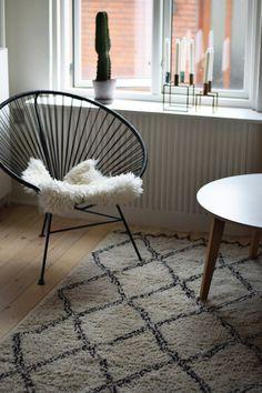 OK design chair - Ellos carpet Scandinavian interior - Scandinavian home