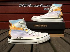 One Piece Anime ACE Hand Painted All Star by BoBPaintedCustom