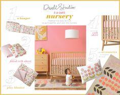 "Amazon.com: DwellStudio Wool Rug, Rosette Blossom, 5"" x 8"": Baby"