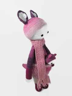 Lalylala Kira the Kangaroo-Crochet pink and purple Kangaroo-Crochet…