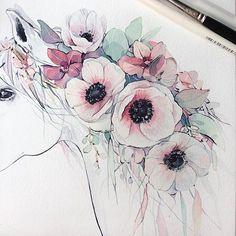 Watercolorist: @kadantsevanatalia #waterblog #акварель #aquarelle #painting…