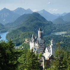 Schloss Neuschwanstein is one of the most visited castles in Germany and one of the most popular tourist sights in Europe. It became a symbol of romantic architecture and the story of the life of Ludwig II.