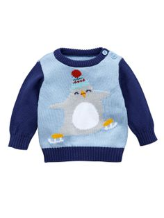 Ladybird Baby Boys Penguin Knitted Jumper | very.co.uk £10