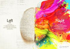 This is a great Mercedes Benz ad - left brain vs right brain.  I'm definitely right brained! haha =)