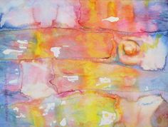 "Lynda Hoffman-Snodgrass - ""Dreamtime Travel"" watercolor  10 x 14"""