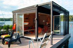 small homes solar europe | Casa flutuante é movida a energia solar
