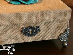 burlap covered boxes for storage