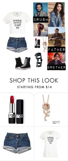 """""""Rouge Jones (Riverdale)"""" by rroyalserena ❤ liked on Polyvore featuring Christian Dior, Disney, Converse, riverdale and rougejones"""