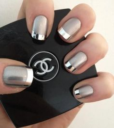 Beautiful spring nails with silver design (12)