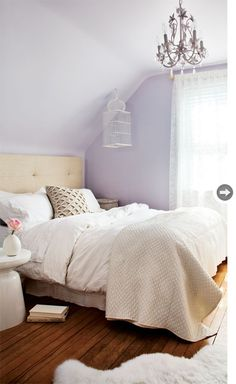 Lavender Bedroom From Style At Home. #laylagrayce #bedroom #lavender Bedroom
