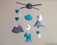Hey, I found this really awesome Etsy listing at https://www.etsy.com/listing/244102171/deer-arrows-baby-mobile-modern-nursery