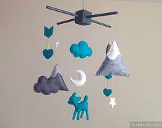 Flèches & cerf bébé Mobile moderne Nursery décor par BubblyMoon