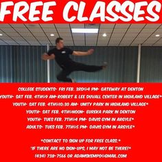 A PSA from @adamsathomekarate  We have a BUNCH of free classes coming up this week. Call today to sign up for one or to ask for a specific location!  #adamskempo #martialarts #karate #kids #fun #selfdefense #denton #highlandvillage #frisco #grapevine #plano #dallas #littleelm #lewisville #health #wellness #summer #activities #texas #fitness #awesome #workout #mom #family #parenting #kidshealth #friscokids #dentonslacker #wddi