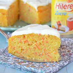 Torta de zanahorias sin azúcar Deli, Vanilla Cake, Healthy, Sweet, Desserts, Food, Gluten, Chocolate, Sugar Free Cakes