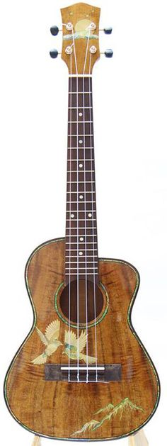 Kaytro Ukulele Tenor 4 String Handmade Birds Inlaid