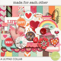 Made For Each Other mini kit freebie from The Lilypad Designers would be good for Guards doing digiscrapping