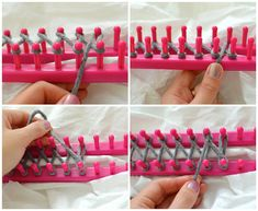 DIY: How to use a Knitting Loom to make an Infinity Scarf. I could actually probably do this even though I'm borderline retarded.