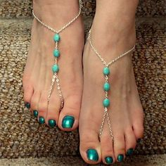 Vintage Three Zircons Alloy Barefoot Sandal(Golden,Silver,Bronze)(1 Pc) – USD $ 4.99