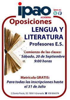 Preparación de las oposiciones de Lengua y Literatura