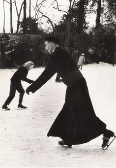 Our parish priest took me ice skating for my birthday when I was you.  He was  kind. Sabine Weiss