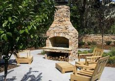pictures of outside fireplaces with grill incorporated | Outdoor Fireplace Kits