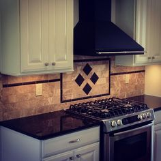 Backsplash detail recently completed in Country Club Estates!