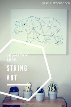 Geometric Bear String Art