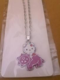 Hello Kitty with a Pink Lion, Kids, Girls Necklace