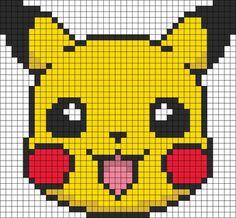 Pokemon Battle Trozei Pikachu Perler Bead Pattern   Bead Sprites   Characters Fuse Bead Patterns