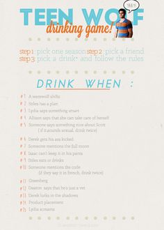 teen wolf drinking game