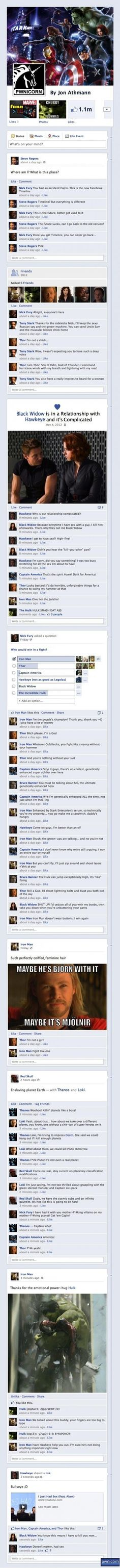 The Avengers Facebook - I feel like I have a really immature sense of humor. But at least I'm laughing, right?